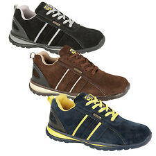 NEW GRAFTERS MENS FLXI FASHION CASUAL SAFETY REAL SUEDE LEATHER TRAINERS SHOES