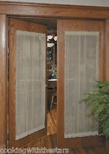 Heritage Lace SHEER DIVINE Door Panels available in 4 sizes 3 colors *NEW*