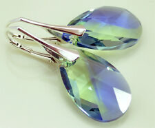 Sterling Silver ALMOND - 36 Colors ! Silver 925 - Earrings with SWAROVSKI Stones