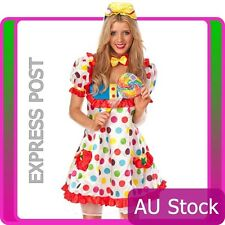 Clown Cosplay Anime Circus Jester Fancy Dress Halloween Ladies Costume