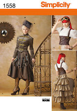 SIMPLICITY 1558/0199 Designed Especially for Steampunk Costume Sewing Pattern
