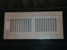 Flush mount oak grill, wood floor register vent. 4x10