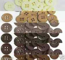 "19mm 3/4"" SZ 30 Plastic Coat Suit Buttons BROWN 100-1000 buttons Wholesale"