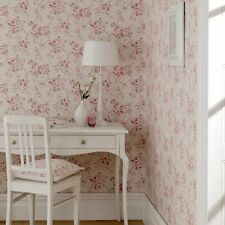 VINTAGE FLORAL WALLPAPER BY CLARKE AND CLARKE DELPHINE IN 6 COLOURS BY THE ROLL