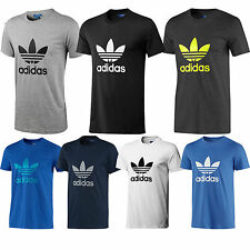 BNIB Adidas Originals New Mens Trefoil Tee Shirt Crew Neck Cotton Top  7 Colours