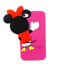 Cute Cartoon 3D Minne Silicon Soft Cover Back Case For New iPhone 4 4S 4G 0180