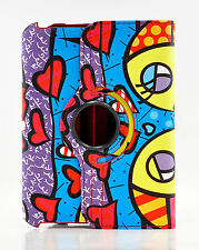 Graffiti 360 Rotating Stand Smart Cover PU Leather case Kindle Fire HDX & HD & 2