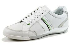 Hugo Boss Men's Gilmour Star 50261721 Fashion Sneakers White Leather Shoes