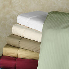 "1000TC ""6 PC SHEET SET"" STRIPE 100% EGYPTIAN COTTON ALL SIZE 004"