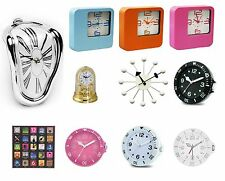 LARGE SMALL KITCHEN WALL CLOCK RETRO VINTAGE MELTING MANTEL BALL WHITE PINK BLUE