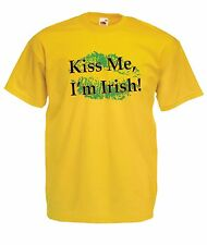 KISS IM IRISH funny ireland NEW xmas birthday gift ideas boys girls top T SHIRT