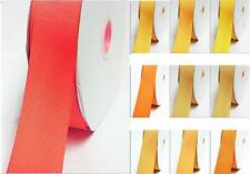 "5 YardsGrosgrain Ribbon 1-1/8"" / 28mm Wide For Wedding Yellow-Orange"