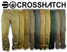 Crosshatch Cotton Pants for Mens Jeans Chino Cuffed Combat Cargo Drop Crotch