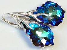 **NEW MODEL** SILVER 925 *BAROQUE* 21 COLORS - EARRINGS WITH GENUINE SWAROVSKI