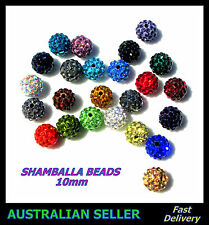 Shamballa Clay Disco Ball Crystal Rhinestone Beads 10mm for Bracelet 24 Colours