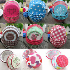 100X Paper Cake Cup Liners Baking Cupcake Cases Muffin Cake Wedding Home Party