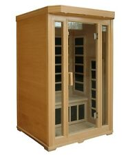 Crystal Sauna 2-Person Infrared Sauna with 7 Carbon Fiber Heaters NEW