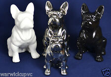 French Bulldog Ornament White, Black or Antique Silver Ideal Gift Large & Medium