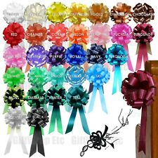 10 Pull Pew Bows Wedding Decorations Chair Table Centerpiece Event Ceremony
