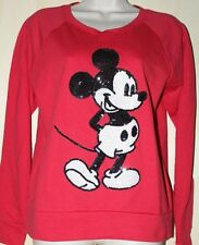 NEW DISNEY COUTURE MICKEY MOUSE PULLOVER SWEATER BLACK SEQUINS DESIGNS