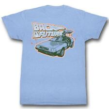 Back To The Future Blue And Orange Light Blue S M L Xl Adult Men T-Shirt Tee