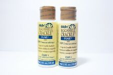 Folkart Eggshell Crackle Acrylic PAINT Colors  2oz - Choose Bottle from the list