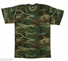 t-shirt camo woodland camouflage made in the usa gsa compliant rothco 6777