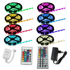 1m-30m LED RGB SMD5050 30/60 LEDs Streifen Strip Band Leiste+Controller+Trafo