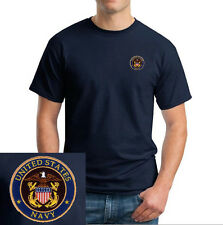 US Navy Seal Logo EMBROIDERED Navy Blue T Shirt *New* United States Military