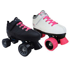 Pacer Mach-5 GTX500 Quad Speed Roller Skates with Pink Laces
