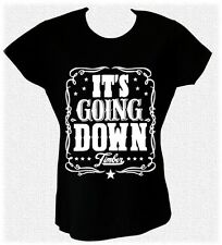 IT'S GOING DOWN TIMBER KESHA & PITBULL TANK SONG  t-shirt donna ROSA VERDE FLUO