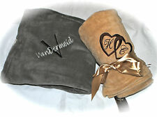 Personalized Monogrammed Throw Blanket w/ Embroidery-7 Colors Super Micro Plush!