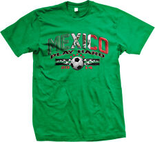 Mexico Play Hard World Cup 2014 Mexican Pride Soccer Ball Flag Mens T-Shirt