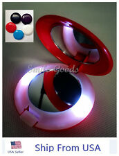 Makeup Cosmetic Folding Portable Compact Pocket Mirror with LED Lights USA