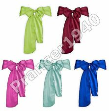10 Pack Satin Bow Chair Sashes - Banquet or Wedding Party Sash