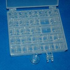 Bobbin Box Sealed Holder Storage Organizer Sewing Thread Holds 25 Bobbins Lots