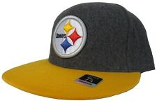 Pittsburgh Steelers Reebok Charcoal Gray Gold NFL Fitted Hat