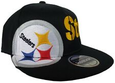 Pittsburgh Steelers Reebok 210 Black NFL Fitted Flexfit Hat
