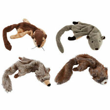 Zanies Unstuffies Puppy Dog Toy 2 Squeakers Gopher, Chipmunk, Squirrel, Coyote