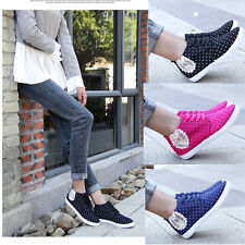 Sweet Women Personalized Lace-up Floral Shoes Polka Dot Printing Canvas Sneakers