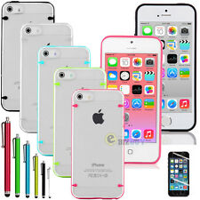 Ultra Thin 0.5mm Crystal Clear Matte Case Case For iPhone 5S 5 /Screen Protector