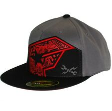 Famous Stars and Straps Twitch Underseige Fitted Flexfit Hat Grey Mens clothing