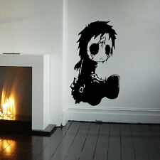 LARGE MY CHEMICAL ROMANCE EMO BOOT WALL ART STICKER GRAPHIC IN MATT VINYL