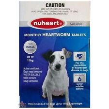 NUHEART Heartworm Tablets for all  Dog 6 tablets/pack  Worming dog worm tablets
