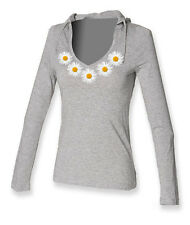Daisy Chain.......ON LADIES LONG SLEEVE HOODED T-SHIRTS