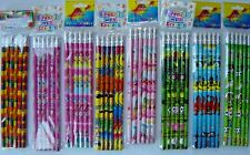 Pencils, with eraser, girl boy party bag, wedding pack, themed