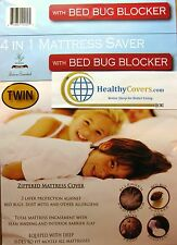 """BED BUG MATTRESS PROTECTOR ~ Fits up to 15"""" High Tensile Fabric ~ Washable ~"""