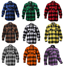mens brawny buffalo plaid flannel shirt long sleeve heavyweight rothco 4739