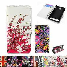 Book Flip Phone Holster Wallet Design Leather Skin Case Cover For Sony Xperia E1