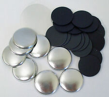 "1"" One Inch Plastic Flat Back Tecre Button Parts for Button Makers FREE SHIPPING"